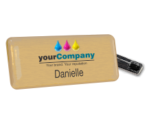 About Imprint Plastic Custom Name Badges & Fittings