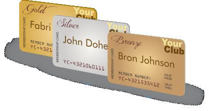 memebership cards
