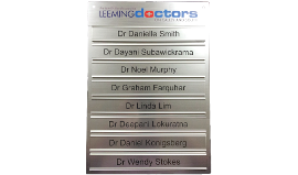 Multiple Names Customised Wall Sign